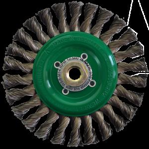 979 - Cepillo circular de Alambre inoxidable trenzado