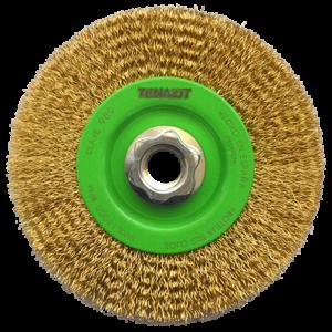 989 - Cepillo circular de Alambre ondulado Latonado
