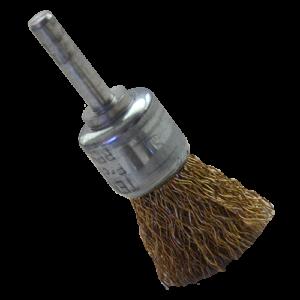 990 - Cepillo de Alambre ondulado Latonado con vastago