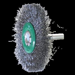 994 - Cepillo circular de Alambre ondulado con vastago