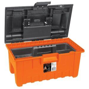 Caja plástica 16' con compartimentos