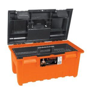 Caja plástica 19' con compartimentos