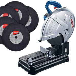 Cortadora de metales Bosch 0601B371G0 GCO 220 14 PULG + 5 discos de corte para metal