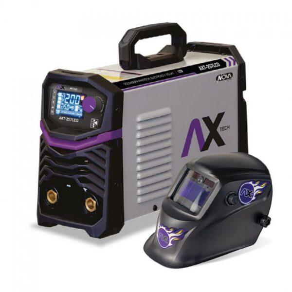 Soldadora Inversor Electrodo 250Amp TIG LIFT Bi Voltaje con careta electronica AXT-P257LCD