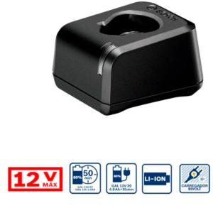 Cargador Rapido Bosch 2v-20 12 2607226195