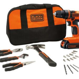 Kit de herramientas + Taladro atornillador Black & Decker LD120BH-B3 20 Volts